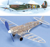 West Wings 1/24 Model Aircraft Kit - 'Wingleader' Spitfire MK1 (rubber powered)