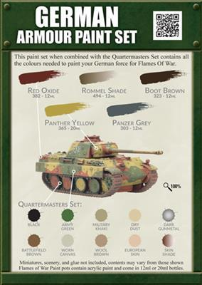 Flames of War - German Armour Paint Set image