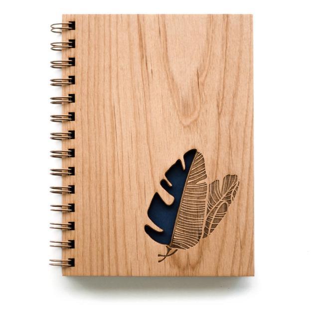 Cardtorial Wooden Journal - Banana Leaves
