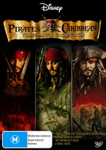 Pirates Of The Caribbean - Three-Movie Collection (6 Disc Set) on DVD