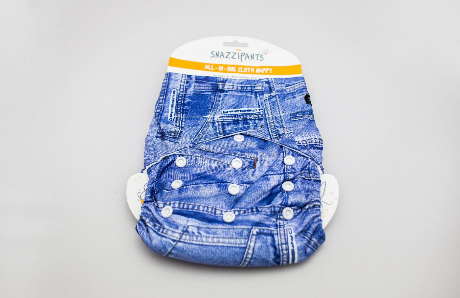 Snazzipants: All in One Reusable Nappy - Denim image