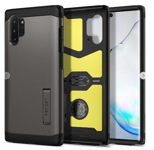 Spigen: Galaxy Note 10+ Tough Armor Case - Black
