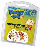 Family Guy Guitar Picks Multi Pack 2 (Set 5)