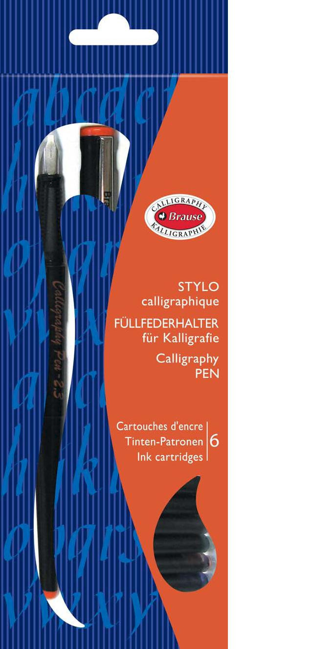 Brause: Calligraphy Pen - 1.5mm Nib and 6 Cartridges image