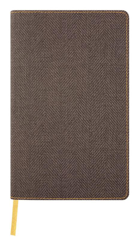 Castelli: Harris Tobacco Brown 2020 Diary Vertical Pocket Weekly