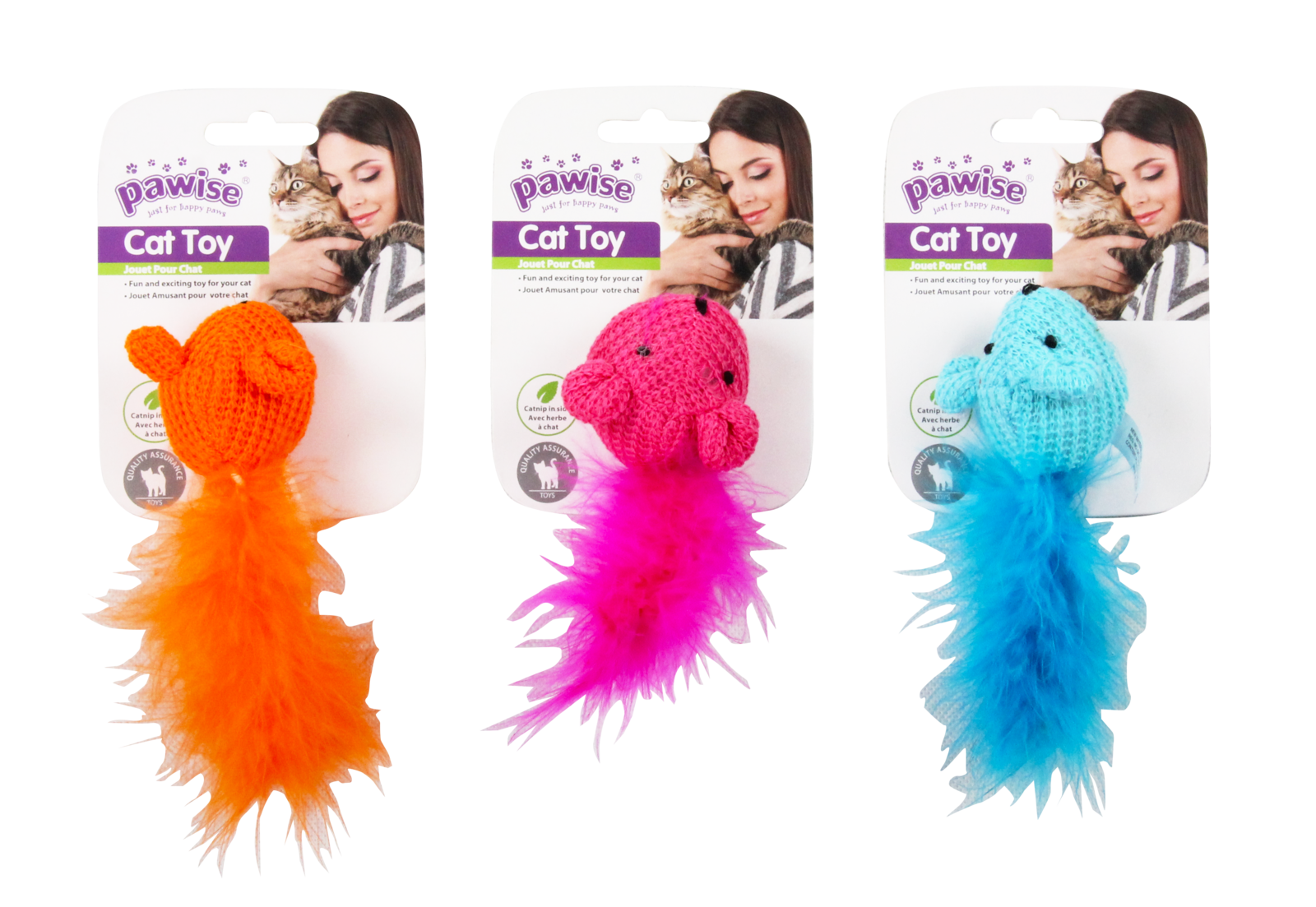 Pawise: Wool Mouse Toy (Assorted Colour) image