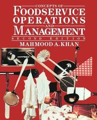 Concepts of Foodservice Operations and Management by Mahmood A. Khan image