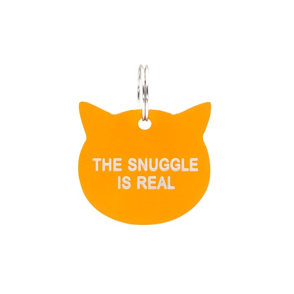 Cat Tag: The Snuggle Is Real (Orange)
