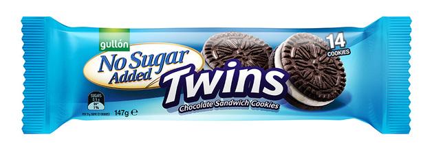 Gullon: No Sugar Added Twins Sandwich Biscuits (147g)