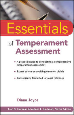 Essentials of Temperament Assessment by Diana Joyce image