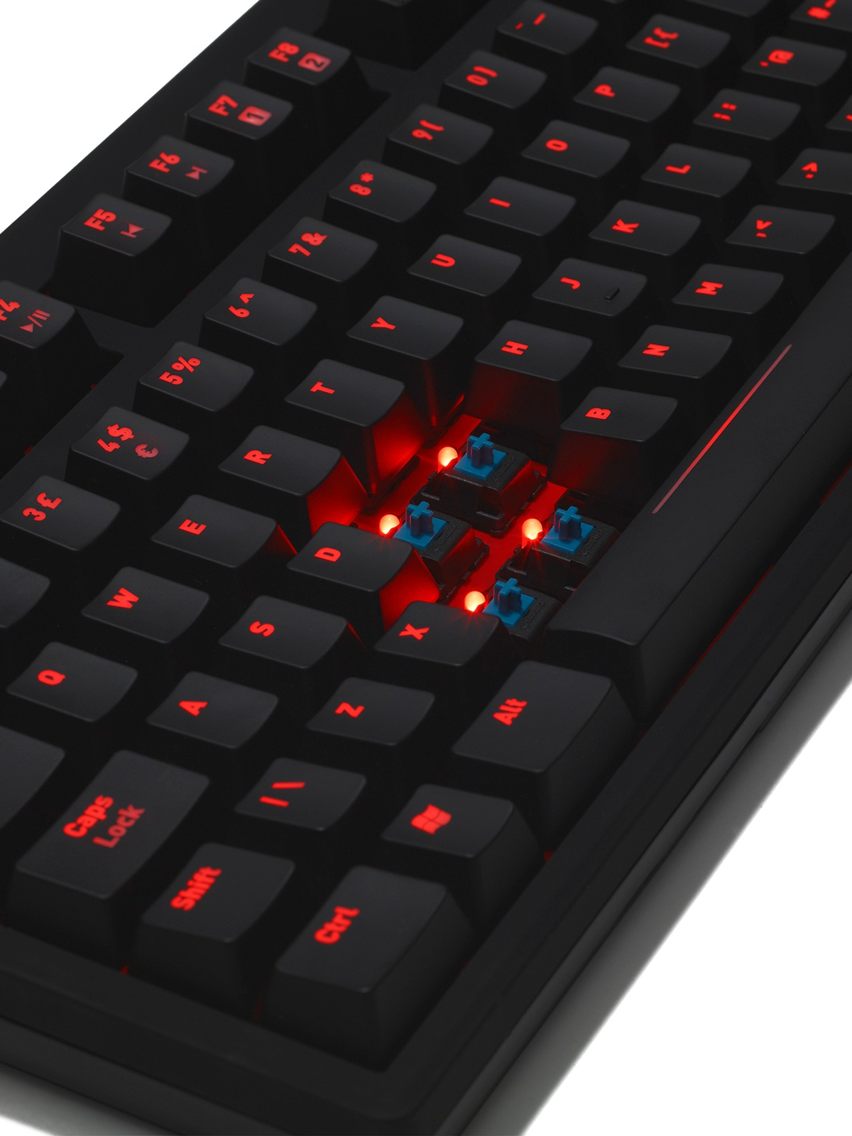 Fnatic Rush Pro Gaming Keyboard - Cherry MX Blue for PC Games image