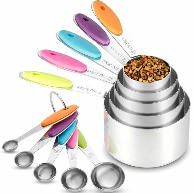 Ape Basics: Stainless Steel Measuring Cups & Spoons (Set of 10)