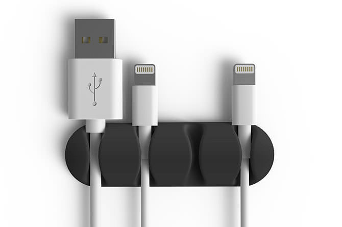 Bluelounge CableDrop Multi Cable Clips - Black image