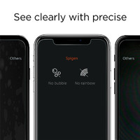Spigen iPhone X Premium Tempered Glass Screen Protector Super HD Clarity image