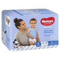 Huggies Ultra Dry Nappies - Size 5 Walker Boy (16) image