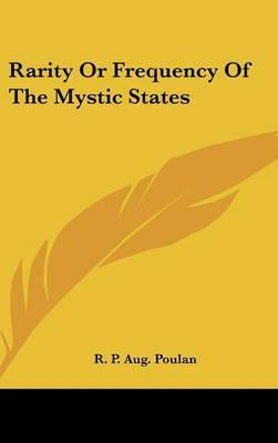 Rarity or Frequency of the Mystic States by R. P. Aug Poulan image