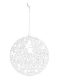 I Believe In Fairies Round Cut Out Plaque