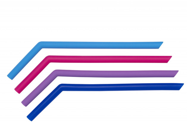 Cuisena: Silicone Thick Smoothie Straws - Angled (CDU/48)