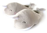 USB Heated Slippers - Narwhals