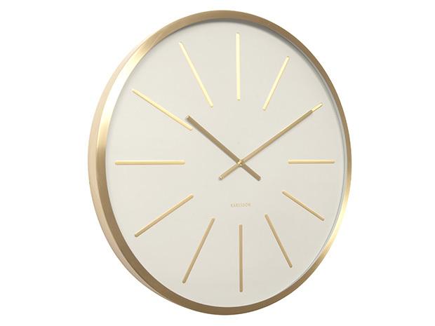 Karlsson Wall Clock Maxiemus Gold White At Mighty
