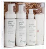 Dimples Organics - Medium Flannel Gift Set (Rose)
