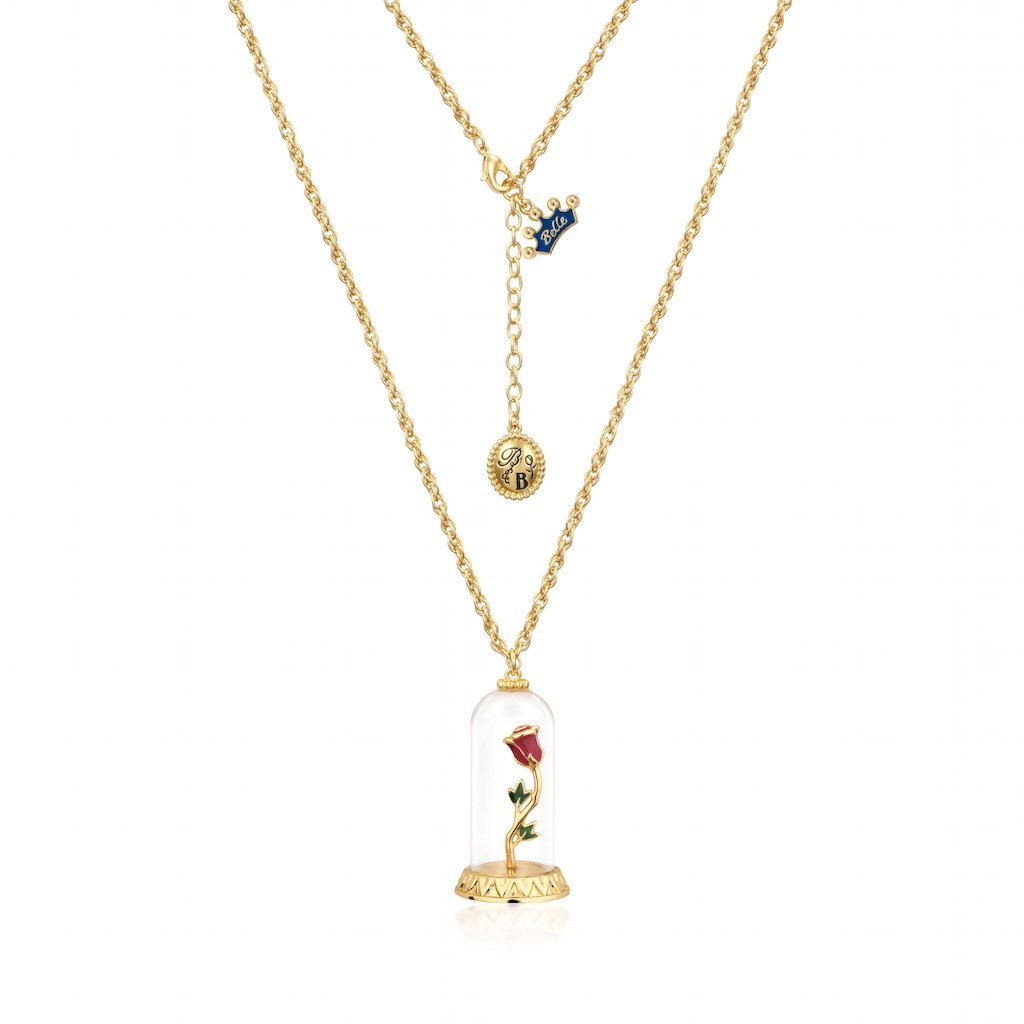 Disney: Beauty and the Beast Enchanted Rose Necklace - Yellow Gold image