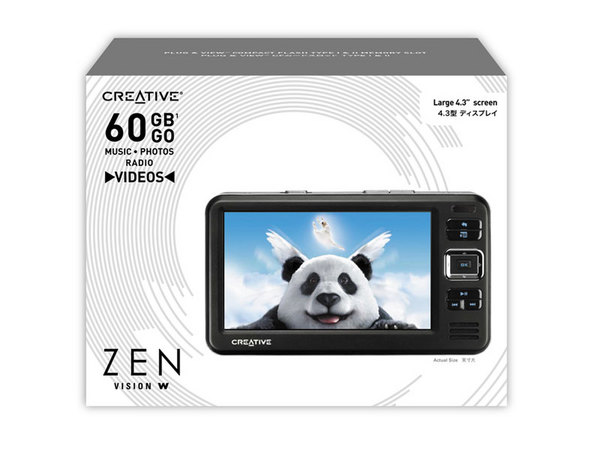 CREATIVE LABS Creative Zen Vision W 60Gb (Black) w/travel adaptor included image