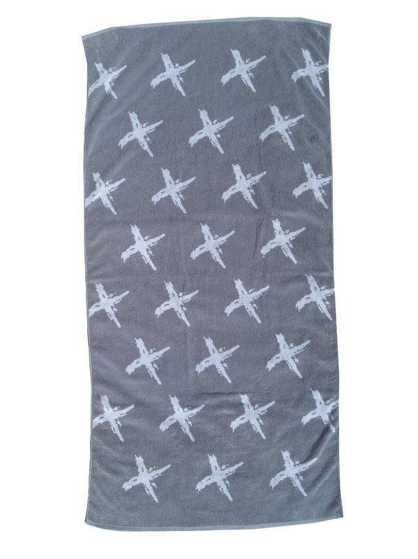 Towelling It XL Beach Towel - Grey Cross
