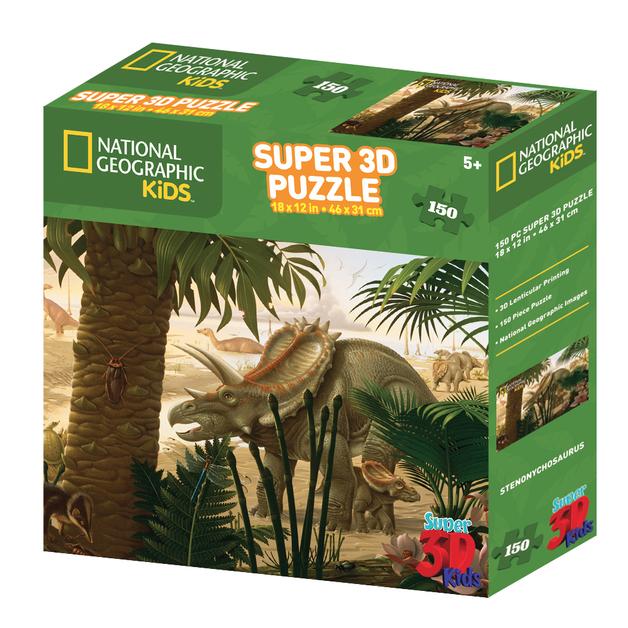 Super 3D: 150-Piece Jigsaw Puzzle - Stenonychosaurus