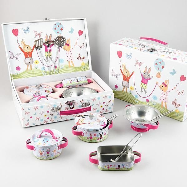 Tin Bunny Kitchen Set Toy At Mighty Ape Nz