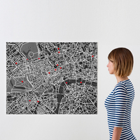 Palomar PinCity Felt Travel Map Diary - London