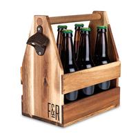 Foster & Rye: Acacia Wood - Beer Caddy