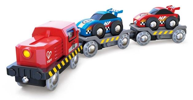 Hape: Race Car Transporter - Railway Playset