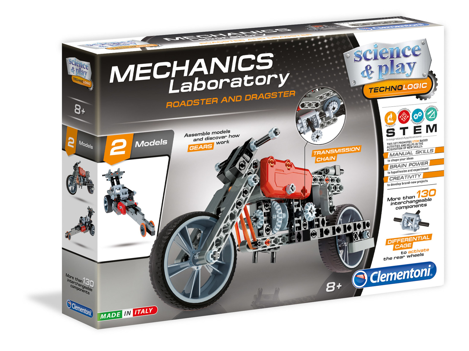 Clementoni Mechanical Laboratory-როადსტერი და დრაგსტერი