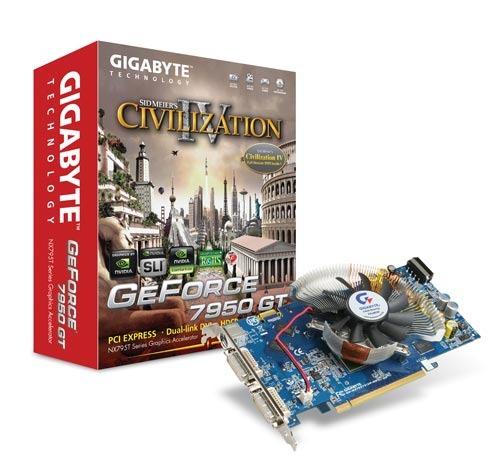 Gigabyte 7950GT 512MB DDR3 PCIE