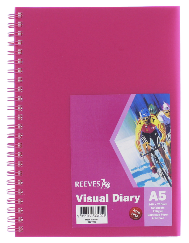 Reeves A5 Visual Diary - Pink