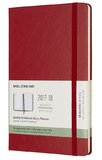 Moleskine Large Hard Cover 18 Month Weekly Planner - Scarlet Red