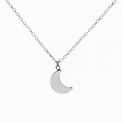 Moon Necklace - Silver