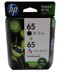 HP 65 Black & Tri Colour Ink Pack image