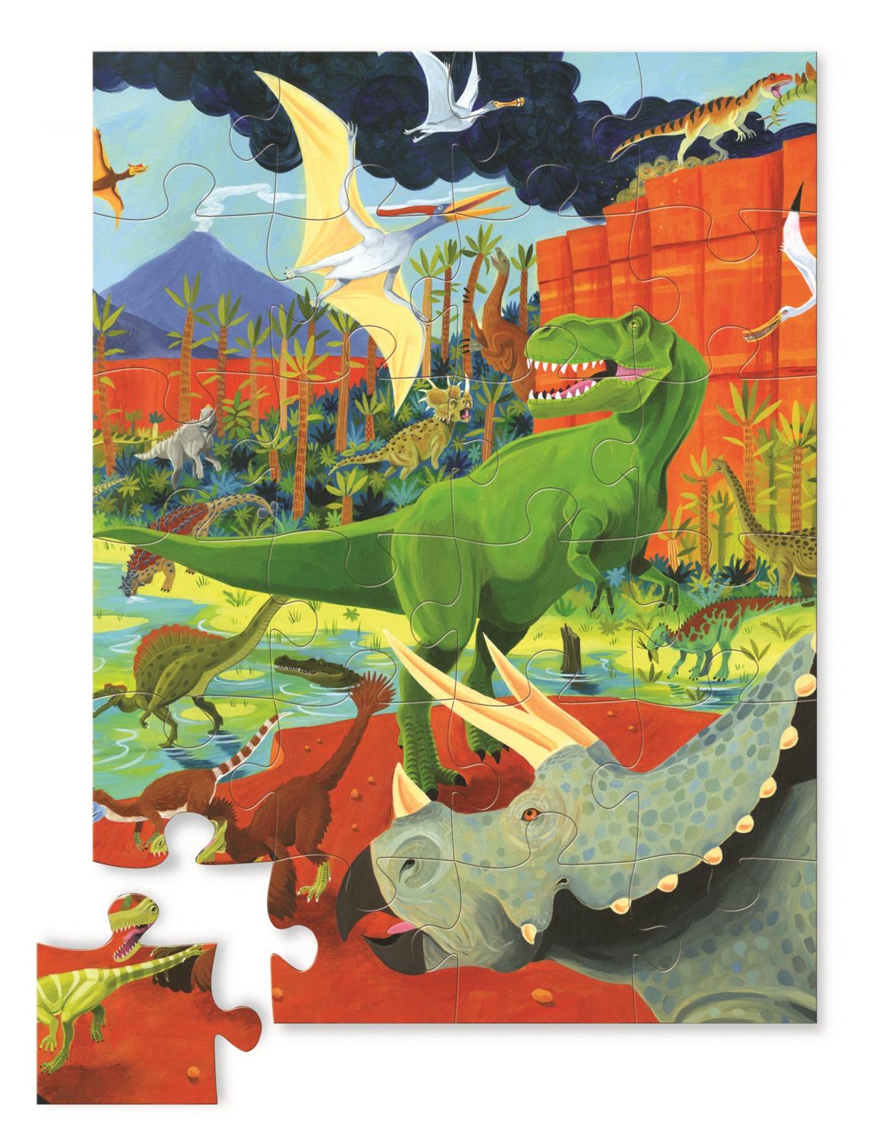 Crocodile Creek: Land of Dinosaurs Jigsaw Puzzle - 24pc image