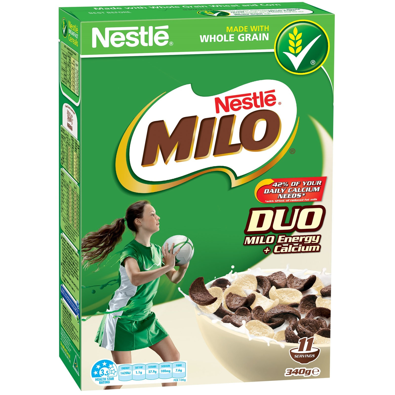 Milo Duo Cereal (340g) image