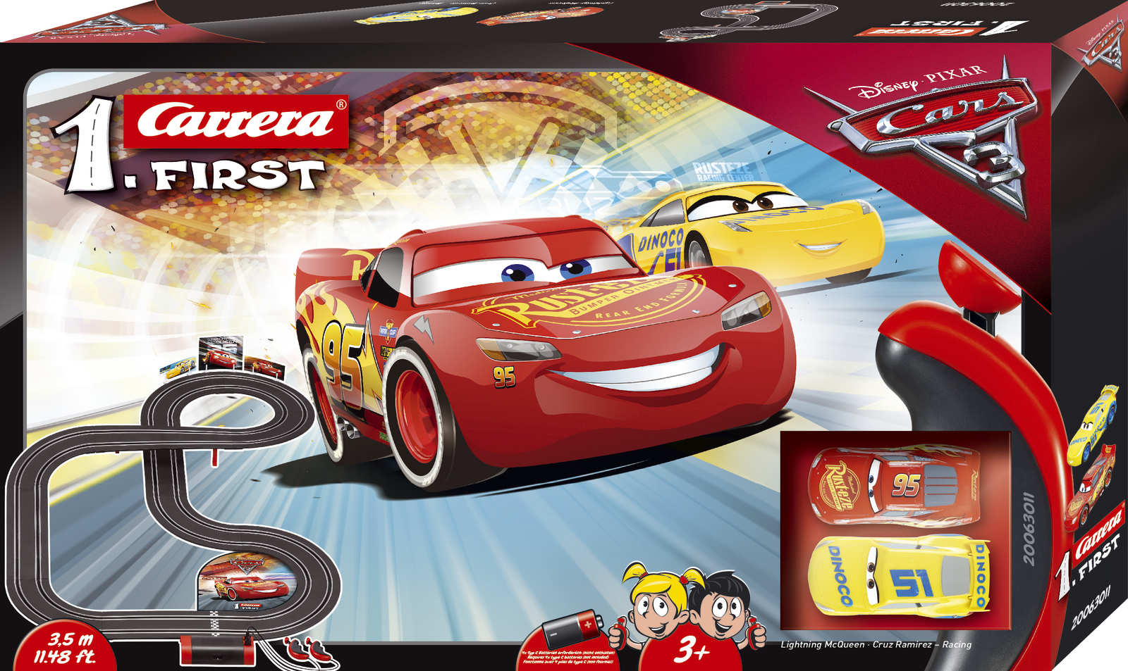 Carrera First: Disney Cars 3 - Slot Car Set #2 image
