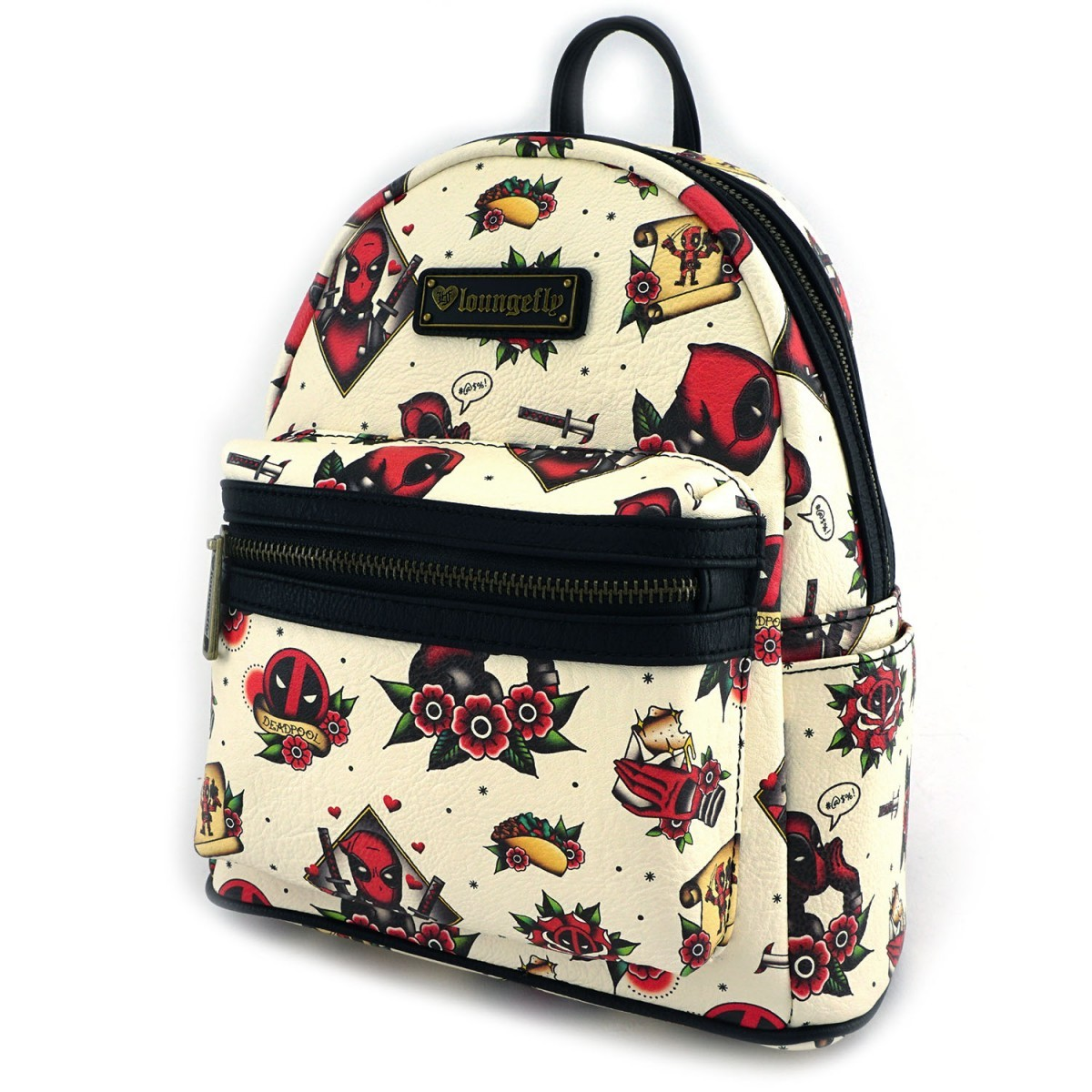 ... Loungefly  Marvel Deadpool Tattoo - Mini Backpack image ... 70bbbd4715896