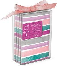 Soft Stripe Scented Sachet Box Of 4