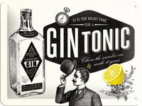 Nostalgic Art: Tin Sign - Gin Tonic