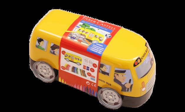 Faber-Castell: School Bus Tin of 20 Connector Felt Tip Pens