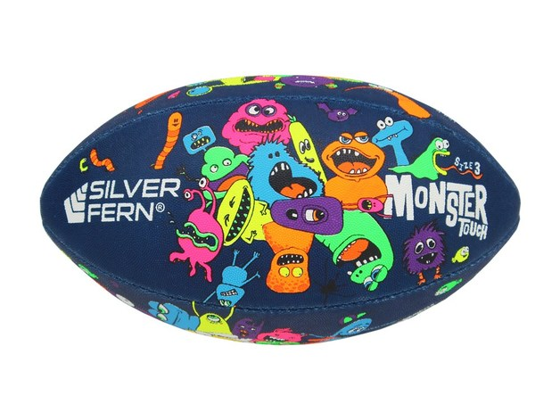 Silver Fern Touch Rugby Ball Monster (Size 3)