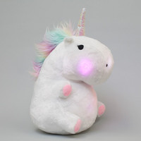Chubby Light-Up Unicorn Pillow image