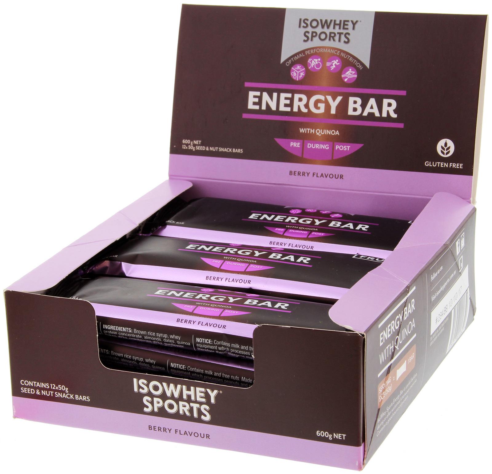 IsoWhey Sports Energy Bar - Berry (12x50g) image