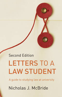 Letters to a Law Student by Nicholas J McBride image